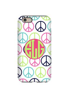 Peace Sign Monogram iPhone Case/Samsung Galaxy Case