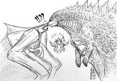 Godzilla x Femuto : snout to snout by on DeviantArt Image Monster, Godzilla Comics, Godzilla Wallpaper, Hollow Art, Monster Girl, Funny Comics, Kawaii Anime, Fantasy Art, Chibi