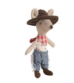 Too cute!! Cowboy Mouse by Maileg