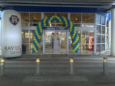 Arco de Entrada em balões. Balloon Entrance Arch