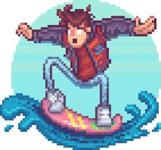 Marty McFly - Back To The Future Pixel ArtCreated by Roman...