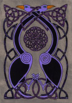 Great Celtic Design Art for Celtic Cloak Work by spookyt5 (Peter Grimes) Australia http://spookyt5.deviantart.com/art/celtic-birds-46795560