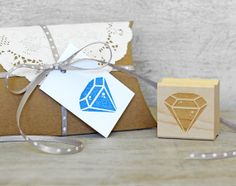 Diamond stamp - pretty way to wrap a wedding gift card