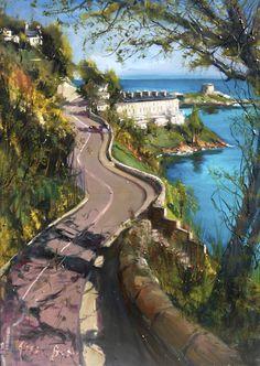 View from Vico Road, Killiney, County  Dublin, Ireland, oil on canvas, Gerard Byrne, www.gerardbyrneartist.com