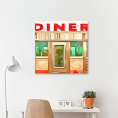 Discover «Classic American Diner», Numbered Edition Canvas Print by Edward Fielding - From $49 - Curioos