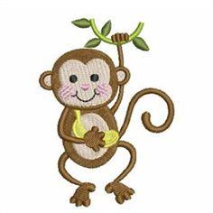 Baby Monkey Embroidery Designs, Machine Embroidery Designs at EmbroideryDesigns.com