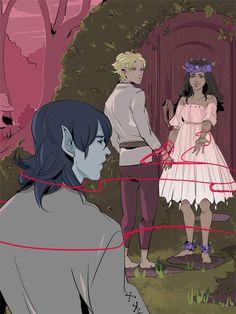 Check out Aegisdea's illustration of Mark, Kieran, and Cristina!