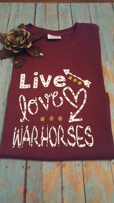 Youth School spirit shirts .. Warhorse & Arabians by Hackebees