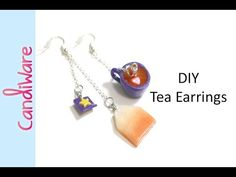 DIY: Tea and Tea Bag Earrings - FIMO, Polymer Clay - YouTube
