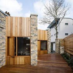 Studio 54 Architecture slots a small home between two London buildings via #Dezeen