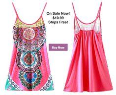 Buy Now! Tribal Chic Slip Dress On Sale