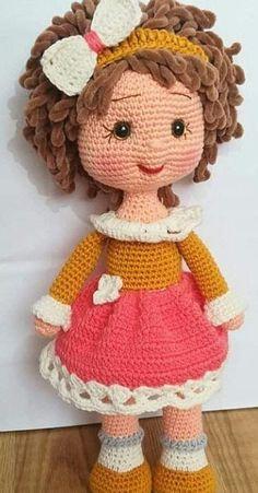 Crochet Dolls Free Patterns, Crochet Doll Pattern, Doll Patterns, Pattern Ideas, Crochet Fairy, Crochet Bunny, Knitted Dolls, Amigurumi Doll, Stuffed Toys Patterns