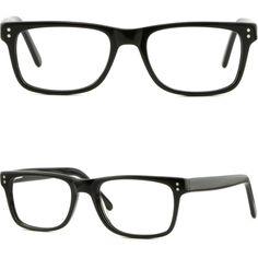 1ccd789da05 Rectangular Men Women Acetate Plastic Frame Spring Hinges Shiny Piece Dots  Black  Unbranded Prescription Glasses