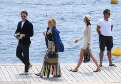 Dasha Zhukova  Kate Hudson Derek Blasberg  Cannes yacht