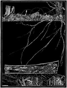 """The Premature Burial: """"Deep, deep, and for ever, into some ordinary and nameless grave."""" - Clarke illustration"""