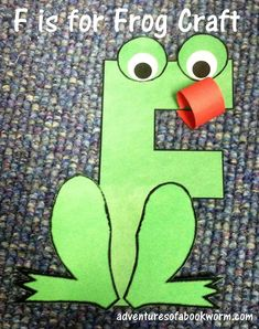 Storytime: Letter F F is for Frog Letter Craft Letter F Craft, Preschool Letter Crafts, Alphabet Letter Crafts, Abc Crafts, Frog Crafts, Daycare Crafts, Alphabet Book, Alphabet Activities, Preschool Activities
