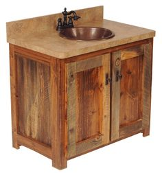 Gallery For Website We proudly offer this Wyoming Reclaimed Wood Vanity Base and other fine rustic American made reclaimed wood furniture and d cor Browse our rustic furniture
