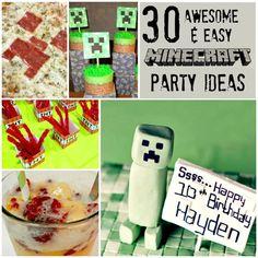 Minecraft Party Ideas Easy Cool Sq w txt