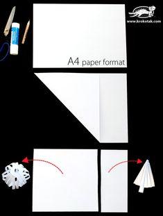 Paper Tree and Snowball GARLAND | krokotak