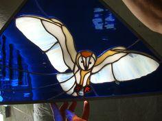Landing Barn Owl panel. Richard Pelham, Glastonbury Stained Glass