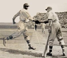 """""""A Handshake for the Century""""       Color Line: The History of the Negro Baseball League, 2016"""