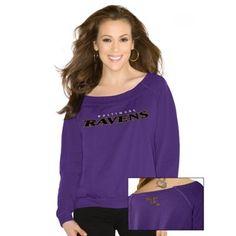 Touch by Alyssa Milano Baltimore Ravens Ladies Draft Choice Sweatshirt - Purple