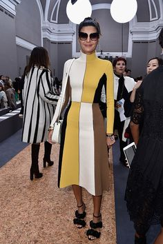 Giovanna Battaglia attends the Chloe show as part of the Paris Fashion Week Womenswear Spring/Summer 2016 on October 1 2015 in Paris France