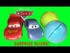 ALIEN Surprise Toys Disney Cars Movie Toys Lightning McQueen Fun Kids Toy Videos - YouTube