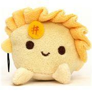 yellow dumpling plush cellphone charm