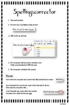 Stappenplan spellingscorrector gebruiken. Gratis te downloaden via KlasCement