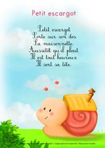 Paroles_Petit escargot French Poems, French Nursery, French Education, French Classroom, French Language Learning, Teaching French, Kids Songs, Learn French, Music Education