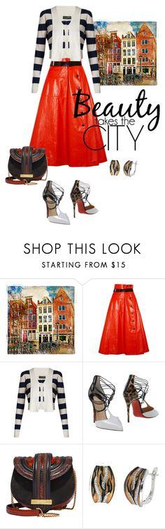 """Beauty Takes the City!"" by flippintickledinc ❤ liked on Polyvore featuring Bottega Veneta, Dolce&Gabbana, Christian Louboutin, Salvatore Ferragamo and Pearlz Ocean"