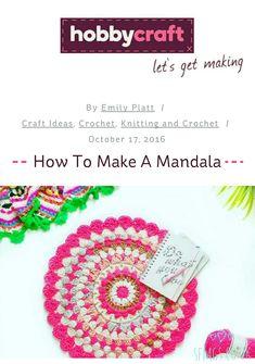 Flora Folk Art Mandala Doily Rug with Hobbycraft | Free Crochet Pattern
