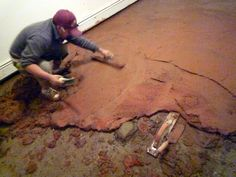 Eco-friendly Earthen Floor - neat step-by-step details of the installation process