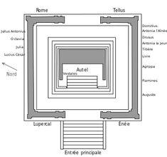 Mappa dell'Ara Pacis
