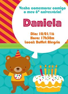 Convite digital personalizado de Aniversário 003