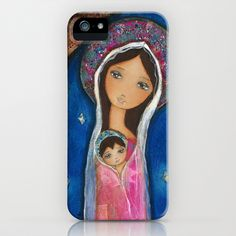 Nativity Star III by Flor Larios iPhone & iPod Case by Flor Larios Art - $35.00