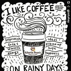 #Repost @gjcsturkey with @repostapp  Yağmurun tadını çıkarmasını bilenlere #gloriajeans #gloriajeanscoffees #coffee #bestoftheday #cafe #coffeetime #coffeelover
