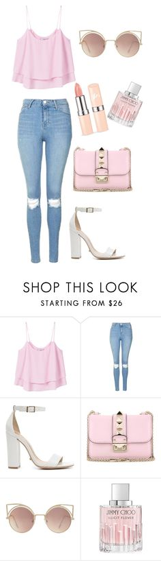 """Untitled #353"" by anaselenator ❤ liked on Polyvore featuring MANGO, Topshop, Schutz, Valentino and Jimmy Choo"