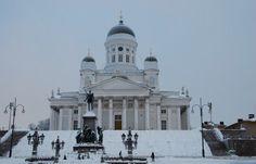 Helsinki cathedral in Finland. Photographer is Andrey Kutsenko