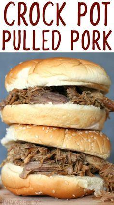 omg soooo good!  making it again next week! SLOW COOKER PULLED PORK #slowcooker #crockpot #pork #pulledpork