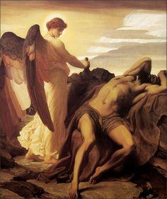 hasevonbastille: Elijah in the Wilderness, Lord Frederick Leighton