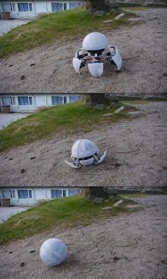 WHO KEEPS BUILDING THESE THINGS?: Creepy Hexapod Robot Can Transform, Roll Out In A Ball