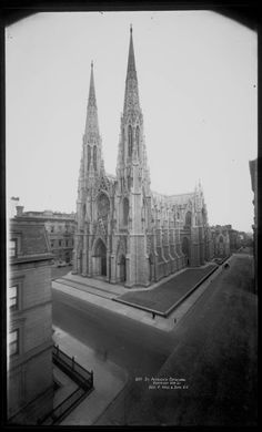 st. patrick's in 1909, in one of the last years the cathedral would be surrounded by residential homes