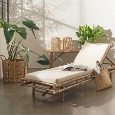 Living&more solseng i bambus - Danang Kan justeres i 3 trin - Coop. Garden Furniture, Outdoor Furniture, Outdoor Decor, Da Nang, Storage Solutions, Sun Lounger, Room, House, Furnitures