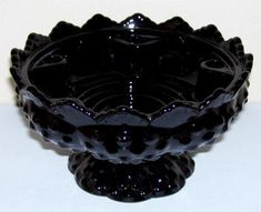 Find everything but the ordinary Fenton Glassware, Antique Glassware, Halloween Dishes, Black Amethyst, Beautiful Kitchen Designs, Indiana Glass, Carnival Glass, Glass Collection, Black Glass