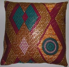 DW12  Untreated cotton Dutch wax print pillow cover