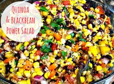 Buttergirl Diaries: Quinoa  Blackbean Power Salad {Recipe}