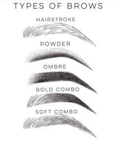 Different Microblading Technics😍 Eyebrow Makeup Tips, Permanent Makeup Eyebrows, Eye Makeup, Phibrows Microblading, Mircoblading Eyebrows, Eyebrow Design, Phi Brows, Brow Artist, Cosmetic Tattoo