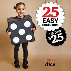 25 easy costumes under $25 - Dice - Today's Parent. http://www.todaysparent.com/family/activities/halloween-costumes-cardboard-boxes/ #halloween #costumes
